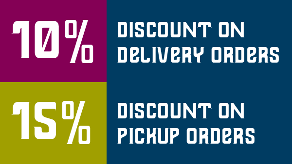 10 and 15 Percent Discount on Indian food orders from Jilabi