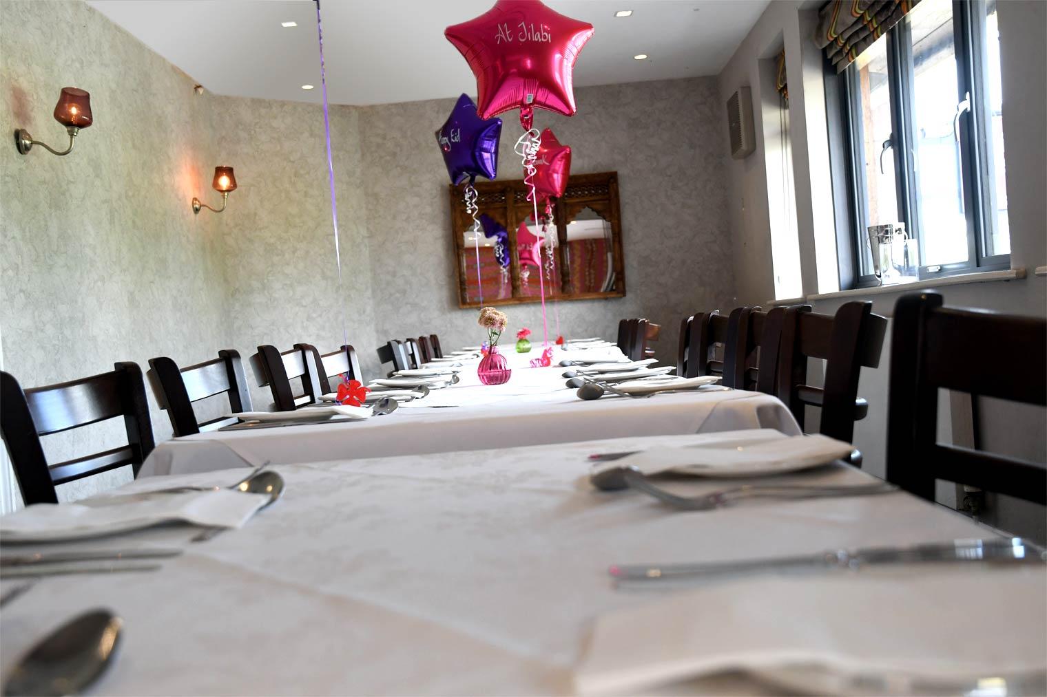 Jilabi Indian Restaurant Funtion Room in Birmingham
